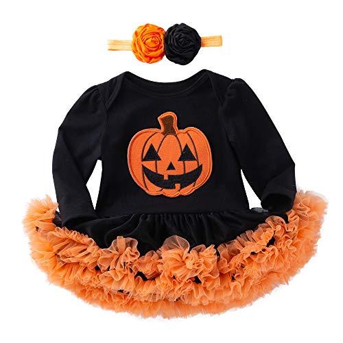 Vestido de Calabaza de Halloween de 3 a 18 Meses, Tefamore Ropa Halloween para Niños Niños Bebé...