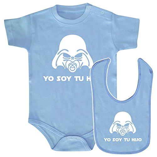 ClickInk Pack Body bebé y babero Yo soy tu hijo. Parodia Yo soy tu padre. Regalo original. Body...