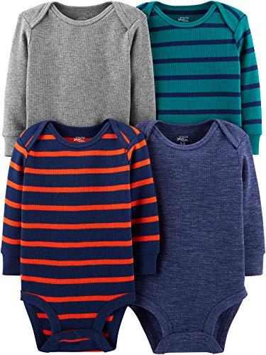 Simple Joys by Carter's - Body - para bebé niño multicolor Grey Heather/Blue Heather/Stripes 12...