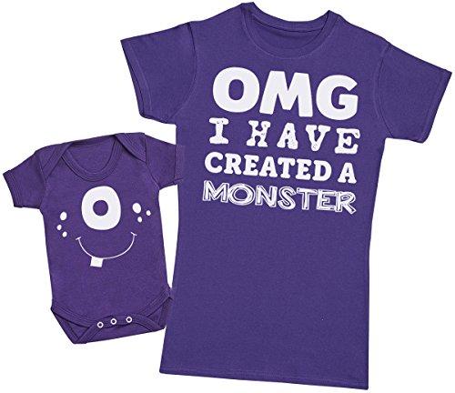 OMG I've Created A Blanco Monster! - Regalo para Madres y bebés en un Body para bebés y una...