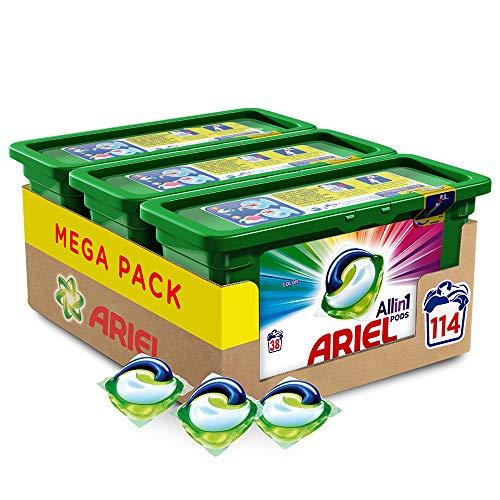 Ariel Allin1 Pods Color - Detergente en cápsulas para la lavadora, óptimo para mantener el color y...