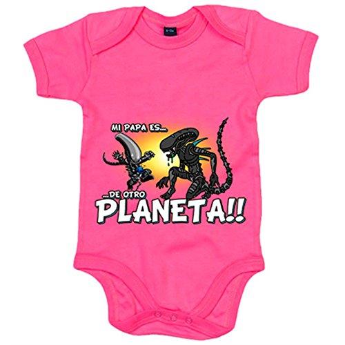 Body bebé mi papá es de otro planeta parodia friki alienígena - Rosa, Talla única 12 meses