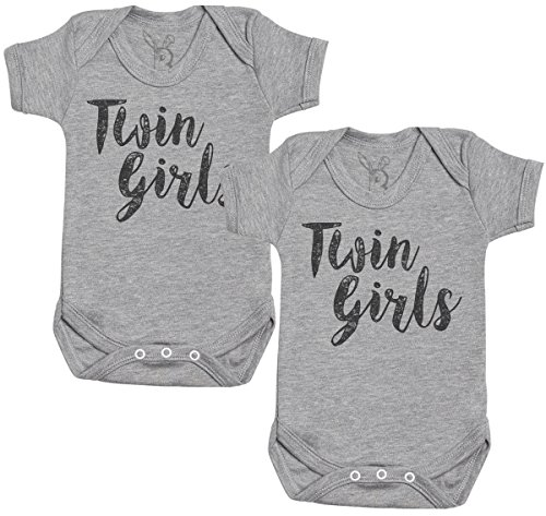 Baby Bunny Twin niñas Regalo para Gemelos bebé, Body para Gemelos bebé niño, Body para Gemelos...
