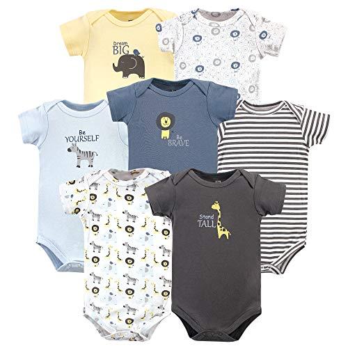 Hudson baby - Body de algodón para bebé, diseño de safari Safari - Mangas cortas (7 unidades)...