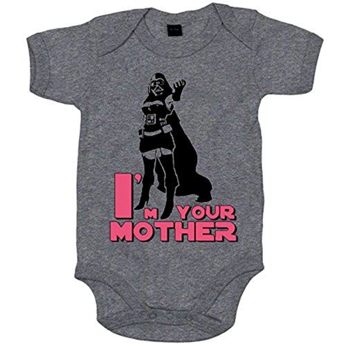 Body bebé I Am Your Mother para madre friki - Gris, 6-12 meses