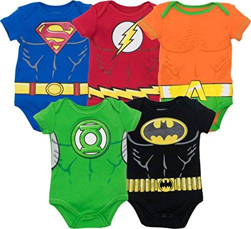 DC Comics Body de Superhéroes - Superman, el Flash, Aquaman, Green Lantern y Batman para...