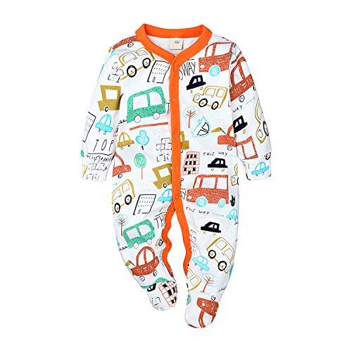 Nwada Pelele Bebe Niño Otoño Body Recien Nacido Niña Mono Invierno Mameluco con Botones Pijama...