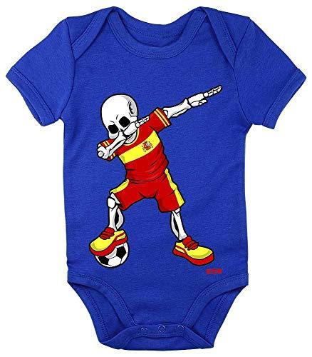 Hariz - Body de manga corta para bebé, diseño de esqueleto de España azul Royal Königs azul....