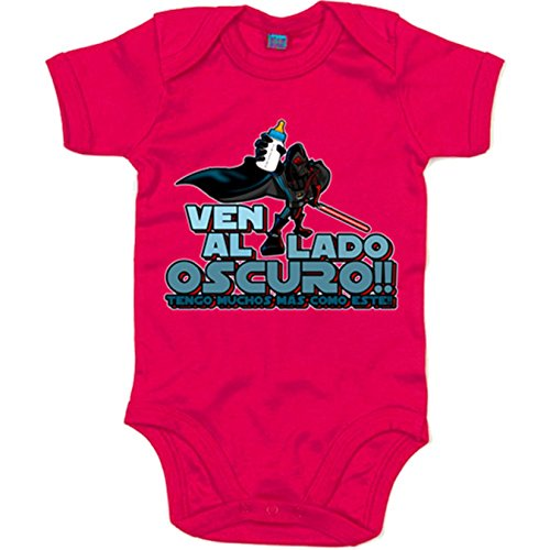 Body bebé parodia Sith ven al lado oscuro - Rosa, 6-12 meses