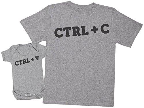 Zarlivia Clothing Ctrl C and Ctrl V - Regalo para Padres y bebés en un Cuerpo para bebés y una...