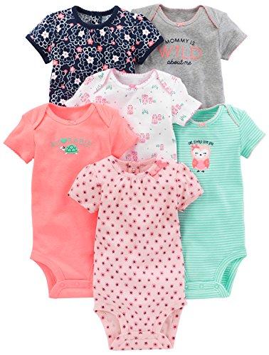 Simple Joys by Carter's - Body de manga corta para niña (6 unidades) ,rosado/menta ,Bebé prematuro