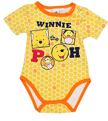 Disney - Body para bebé, diseño de Winnie The Pooh amarillo 23 Meses (86 cm)