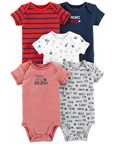 Carter's paquete de 5 enteritos para bebé Eat Play Sleep Repeat, 24 Meses