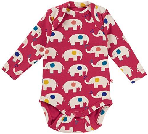Piccalilly Gender - Body para bebé, algodón orgánico suave, unisex, diseño de elefante rojo