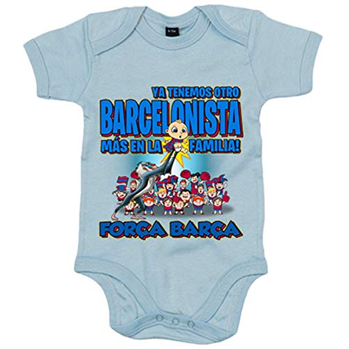 Body bebé ya tenemos otro Barcelonista más en la familia Barcelona fútbol - Celeste, 12-18 meses