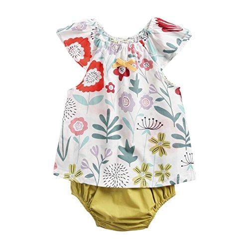 Sanlutoz Algodón Impreso Bebé Chicas Ropa Verano Recién Nacido Bebé Conjunto de Ropa Casual (2-3...