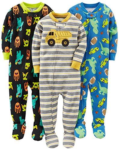 Simple Joys by Carter's pijama de algodón para bebés y niños pequeños, 3 unidades...