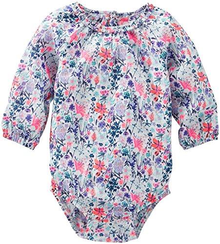 OshKosh B'Gosh Baby Girls' Woven Bodysuit 11343210, Floral, 6 Months