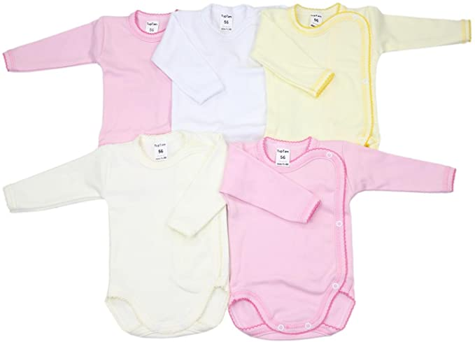 Pack de 5 camisetas de cuello redondo americano hechas de algod/ón org/ánico para beb/é Moon and Back de Hanna Andersson